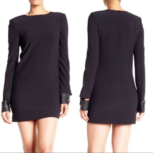Helmut Lang Dresses & Skirts - Helmut Lang black leather cuff mini dress 6